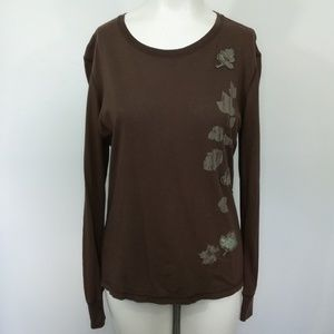 North Face Long Sleeve T-Shirt Size M Brown